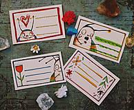 Papiernictvo - Ľubiškove jarné štítky na čokoľvek - 10538833_