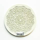 Pomôcky/Nástroje - Silikónová forma, čipka, krajka, mandala, 13 cm - 10538377_