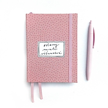 Papiernictvo - ZÁPISNÍK ružový (ľubovoľný nápis) - 10539784_