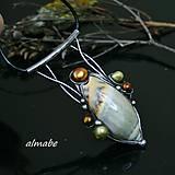 Náhrdelníky - Pozdrav Poseidóna (mušle, říční perly)   - 10538952_