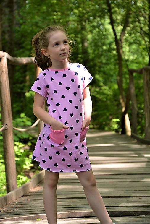 Úpletové dievčenské šaty Cora s vreckami