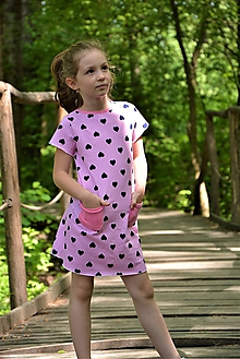 Detské oblečenie - Úpletové dievčenské šaty Cora s vreckami - 10537556_