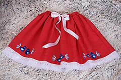 Sukne - Ľudová sukienka - 10539166_