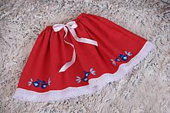 Sukne - Ľudová sukienka - 10539167_