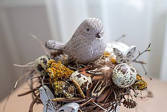 """Dekorácie - Jarný aranžmán """"V hniezde"""" - zľava! - 10539844_"""