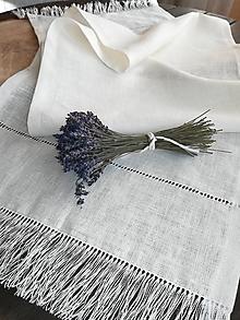 Úžitkový textil - Ľanová štóla Simplicity II - 10538939_