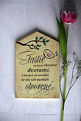 Dekorácie - Motivačná tabuľka domček - 10538661_