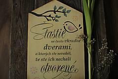 Dekorácie - Motivačná tabuľka domček - 10538662_