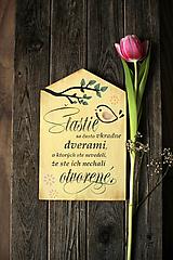 Dekorácie - Motivačná tabuľka domček - 10538664_