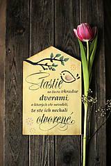 Dekorácie - Motivačná tabuľka domček - 10538665_