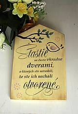 Dekorácie - Motivačná tabuľka domček - 10538666_