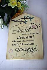 Dekorácie - Motivačná tabuľka domček - 10538669_