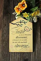 Dekorácie - Motivačná tabuľka domček - 10538670_