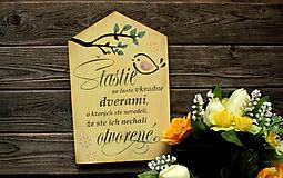 Dekorácie - Motivačná tabuľka domček - 10538671_