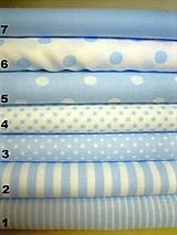 Textil - Bavlněná látka - kombinace světle modrá - 10538397_