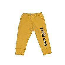 Detské oblečenie - Tepláčiky OwnRules yellow - 10539987_