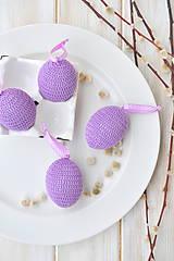 - háčkované vajíčko - fialové - 10537275_