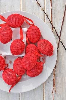Dekorácie - veľkonočné vajíčko - červené - 10537159_
