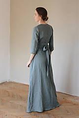 Šaty - Dámske ľanové zavinovacie šaty CHARLOTTE - dostupné v 30 farbách - 10538585_
