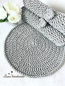 Úžitkový textil - Háčkované prestieranie (Tyrkysová) - 10540151_