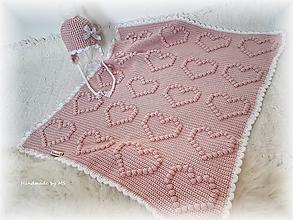 Textil - Detská deka SRDIEČKOVÁ - 10538307_