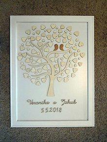 Darčeky pre svadobčanov - Kniha hostí - strom - 10539509_