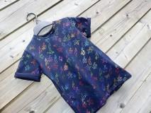 Detské oblečenie - Tričko - čierna s trblietkami - 10539996_