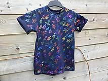 Detské oblečenie - Tričko - čierna s trblietkami - 10539997_