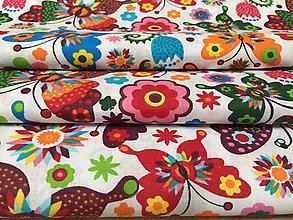 Úžitkový textil - motýlie uteráky - 10538081_