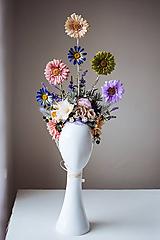 Ozdoby do vlasov - Jarná koruna z kvetov - VÝPREDAJ - 10540157_