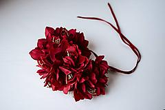 Ozdoby do vlasov - Extravagantná koruna z kvetov - VÝPREDAJ - 10540161_