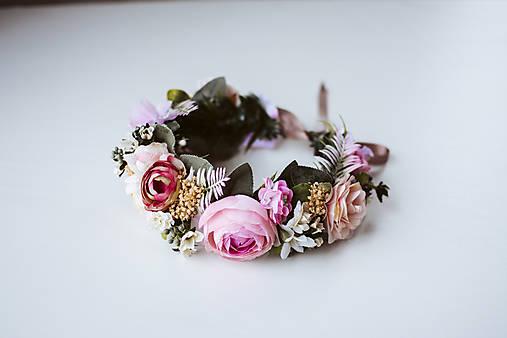 Divoký, romantický kvetinový venček - VÝPREDAJ