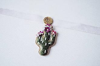 Náhrdelníky - Choker náhrdelník Kaktus - VÝPREDAJ - 10540154_