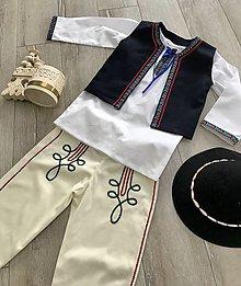 Detské oblečenie - Ľudový chlapčenský kroj s vestičkou 2 - 10537628_