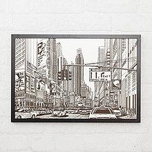 Obrazy - Fotografia New Yorku - gravírovaný obraz na dreve - 10538103_