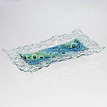 Nádoby - Sklenená miska MADEIRA s čipkou - obdĺžnik - 10539676_