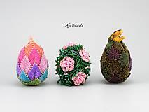Dekorácie - Veľkonočné vajce - Růženka - 10539321_
