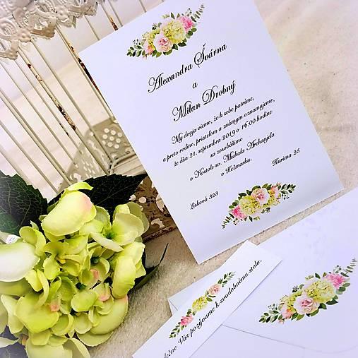 """Svadobné oznámenie """"Letná hortenzia"""" (A6)"""