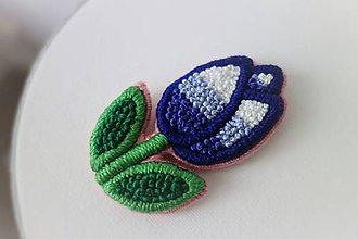 Odznaky/Brošne - Happy tulip - vyšívaná brošňa - 10539913_