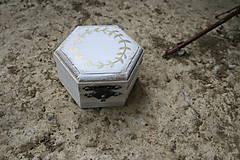Darčeky pre svadobčanov - Krabička na prstienky - 10539950_