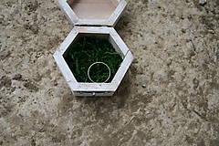 Darčeky pre svadobčanov - Krabička na prstienky - 10539953_