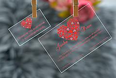 Nezaradené - Svadobné oznámenia a pozvánky - transparentný plast (9x5) - 10538629_