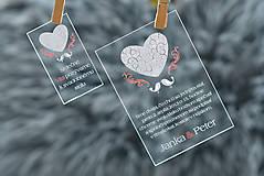 Nezaradené - Svadobné oznámenia a pozvánky - transparentný plast (9x5) - 10538631_