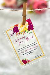 Nezaradené - Svadobné oznámenia a pozvánky - transparentný plast (9x5) - 10538632_