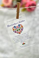 Nezaradené - Svadobné oznámenia a pozvánky - transparentný plast (9x5) - 10538633_