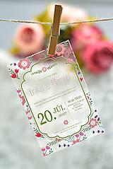Nezaradené - Svadobné oznámenia a pozvánky - transparentný plast (9x5) - 10538634_