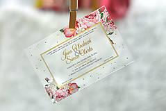 Nezaradené - Svadobné oznámenia a pozvánky - transparentný plast (9x5) - 10538635_