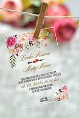 Nezaradené - Svadobné oznámenia a pozvánky - transparentný plast (9x5) - 10538636_