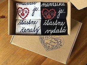 Obuv - Maľované ponožky s nápisom: