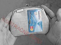 Peňaženky - Peňaženka XL Bodky (hexagóny) na modrej - 10536888_